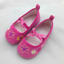 Baby Infant Toddler Girl Embroidery Flower Bowknot Princess Shoes 0-24M