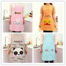 Cute Cartoon Women Waterproof Kitchen Restaurant Bib Cooking Aprons