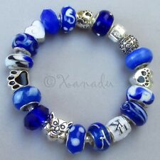 Kentucky Wildcats European Charm Bracelet With University Of Kentucky Beads