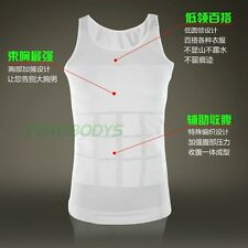 BEST UK MENS SHIRT FLAT CHEST SHAPER VEST TOP FOR MAN BOOBS MOOBS GYNECOMASTIA