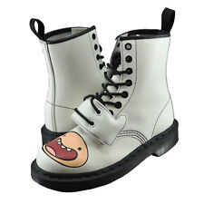 Unisex Dr. Martens Adventure Time Finn 8 Eye Leather Boots 16684100 White  *New*