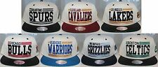 NBA Cream Block Snapback Mitchell & Ness Snap Back - Variety of Teams Avail