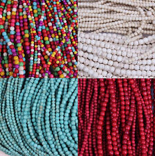 Wholesale 50 /100Pcs Round Loose Turquoise Spacer Beads Jewelry Findings 4mm 6mm