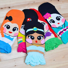 Korean Womens Retro Vintage Cute Cartoon Girls Cotton Ankle Low Cut Socks F3