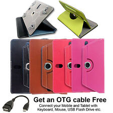 """7 Inch Tablet Pouch Rotate Flip Cover for Tab Carry 7"""" Case Leather Universal"""