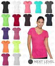 Womens V Neck Tee 19 Colors - Next Level - Ladies Sporty Tee 3400L Size S-2XL