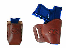 New Barsony Burgundy Leather Yaqui Holster + Mag Pouch Kel-Tec Sccy Kimber Comp