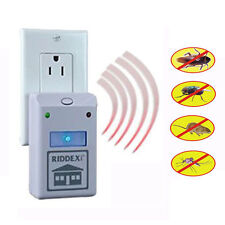 4x Riddex Plus Pest Repeller Aid for Rodents Roaches Ants EU/US Plug As Seen TV