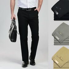 Spring High Quality Business Mens Formal Casual Trousers Cotton Slim Fit Pants