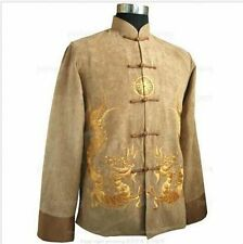 2015Chinese Traditional Men's Kung fu jacket coat with Dragon M,L,XL,XXL,XXXL