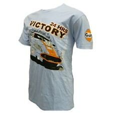 Aston Martin Gulf Racing Men's Blue T-Shirt Victory at Le Mans 24 Hour 2008