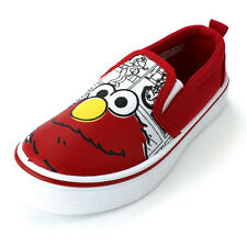 Sesame Street Elmo Boys Red Canvas Sneakers Shoes SES704 5 6 7 8 9 10