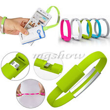 USB Charging Charge Data Sync Cable Bracelet Wrist Band Charger For Mobile Phone