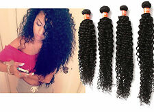 """2015 Curly Virgin Human Hair mix-size 10""""-30"""" Natural Color 50g Cheap Weave"""