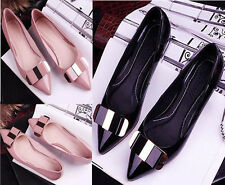 2015 NEW Women Sweet Bow Pointed Toe Princess Shoes Ballerina Girls Casual Flats