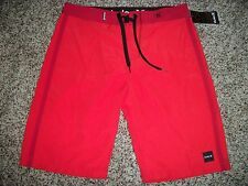HURLEY New NWT Mens BOARD SWIM SHORTS Red Solid 31 32 33 34 36 38