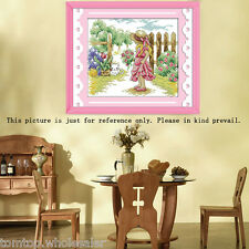 Counted Cross Stitch Kit Embroidery Set 11CT/14CT Lovely Girl Pattern Home Decor