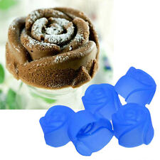 Hot Sale 5Pcs Silicone Rose Muffin Cookie Cup Cake Baking Mould Chocolate Maker