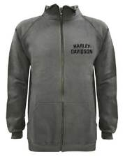 Harley-Davidson Men's Track Jacket Heritage H-D Script Charcoal Warm Up 30296621