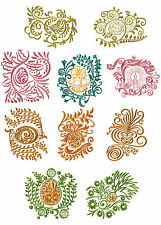 "ABC Designs Easter Motifs Machine Embroidery Designs SET 4""x4"" hoop 10 Designs"