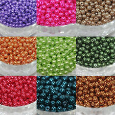 Wholesale 100Pcs Glass Pearl Czech Round Loose Spacers Beads Jewelry Findings
