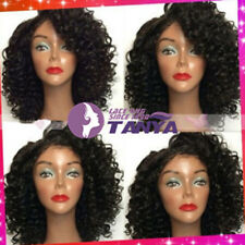 """12""""-24""""Soft Deep Curly 100% Indian Remy Human Hair Lace Full/Front Wig Baby Hair"""