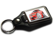 BMW 1 SERIES COUPE Car Koolart Quality Leather Chrome Keyring Choose a Colour!