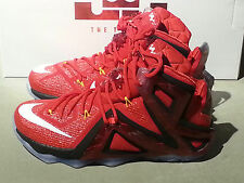 Nike Lebron 12 XII Elite 724559 618, University Red. Sizes 8 to 13.