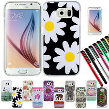 For Samsung Galaxy S6 G920 Rubber Silicone Clear Soft TPU Cute Back Cover Case O