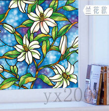 Static Cling Privacy Stained Decorative Vinyl Glass Window Film European style~9