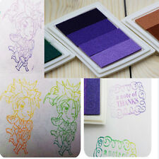 New Gradient Oil Based Ink pad Signet For Paper Wood Craft Rubber Stamp 4 Color