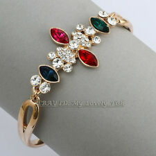 B1-A1043 Fashion Simulated Gem Bracelet Bangle Cuff 18KGP Crystal