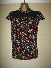 New RED HERRING @ Debenhams Pretty Black Butterfly Print Blouse Top 8-18 RRP £26