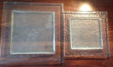 Villeroy & Boch Square glass plate TWO SIZES SALAD or DINNER / SERVING - 1 piece