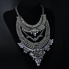 2015 New Gorgeous Vintage Gold/Silver Big Pendant Necklace Statement Tribal HOT