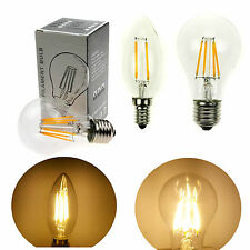 E27 E14 2W/4W/6W/8W  Warm White Filament LED light bulb lamp candle Chandelier