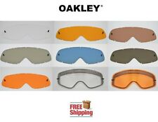 OAKLEY® BRAND O-FRAME® MX GOGGLE REPLACEMENT LENS TINTED DARK LIGHT MIRROR NEW