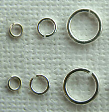 STERLING SILVER JUMP RINGS 3mm 4mm 7mm heavy duty
