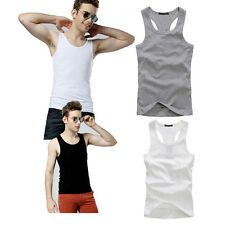 Hot Fashion Men's Cotton T-Shirts Muscle Ribbed Wife Beater/A-Shirt Tank Top