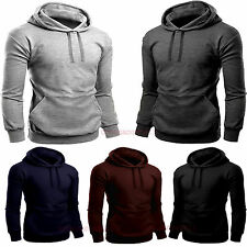 Men's Casual Pull over Hoodie Sweat Shirt Workwear Hooded Tops lot size S M L XL