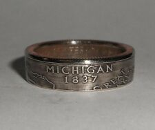 MICHIGAN US STATE QUARTER handmade coin ring or pendant size 4-14