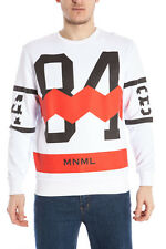 Minimal SWEATSHIRT HOODIE -50% MWF MADE IN ITALY Man Wht U0375-