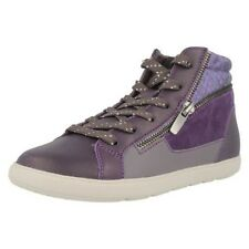 Girls Cica by Clarks Hi-Top Style Trainers Zita Snake