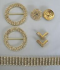 DIY Bling Browband Kit - Diamonte And Gold Chain - Centres - Rings & Flag Tips