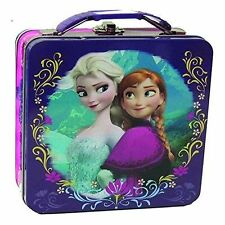 Disney Frozen Embossed Elsa and Anna Olaf Tin Lunch Box- 4 Styles to Pick from!