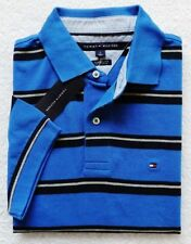 New Tommy Hilfiger Mens Short Sleeve Striped Polo Size S,M, L