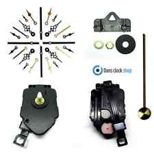Complete Quartz Pendulum Clock Movement Kit & Metal Hands - Clock Making - New