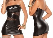 New Sexy Hot Mini Dress Dance Party Out Night Club Wear=Silver, Black