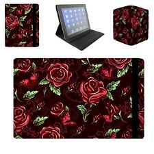 Red Rose With Thorns Flip Folio Case - fits iPad Air Mini Kindle Samsung Galaxy
