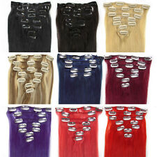 """New 15""""18""""20""""22""""24""""7PCS Clip In Women's Remy Human Hair Extensions Straight"""